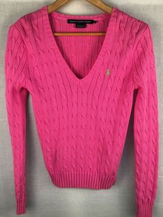Details about J. Crew Women's Hot Pink Spring Knit Long Sleeve ...