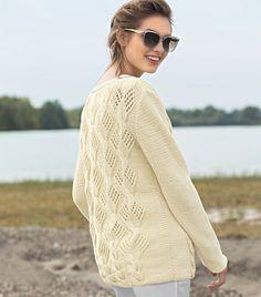 Джемпер цвета ванили - схема вязания спицами. Вяжем Джемперы на Verena.ru