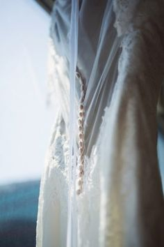 Illusion Back with Buttons, Wedding Dress | Carnegie Institution DC Wedding | DuHon Photography