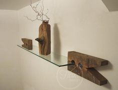 Price Doesnt Include SHIPPING. please contact us with your location and we will provide you with a shipping quote. This unique modern-rustic handmade shelf is crafted from the century-old 100% reclaimed barn wood and modern glass. Giant wooden clothespin clips are designed to support