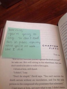I should totally do this to my sister who is reading insurgent and has no idea what she's in for.