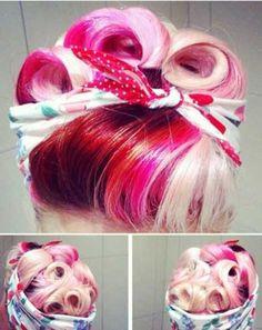 Rockin' Pinup Hair strawberry kisses!