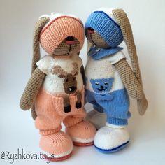 #амигуруми #вязание #вязаниекрючком #вязаниеспицами #вязанаяигрушка #вязаныйзаяц #amigurumi #knitting #crochet…