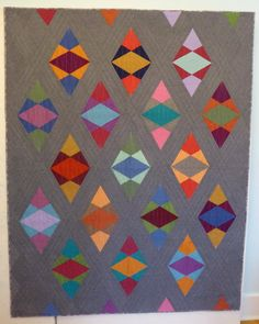 Modern Gem Stones Quilt | by Patti of the Saskatoon Modern Quilt Guild