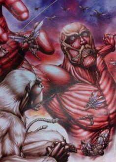 凄いクオリティ!!有名漫画家が描いた「進撃の巨人」のイラストレーション