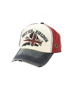 Vintage Denim Cotton Union Jack Baseball Cap