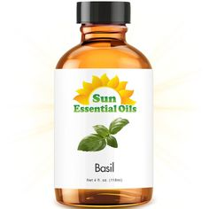 Basil (Large 4 ounce) Best Essential Oil *** Hurry! Check out this great product : basil essential oil