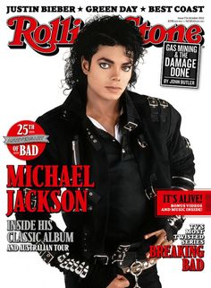 """Michael Jackson """"Rolling Stone Bad"""" Cover, Australia, October 2012. Issue 731."""