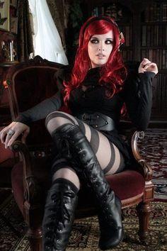 Redhead goth Gothic girl
