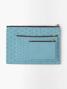 """Milky Blue #1"" Zipper Pouch by Kettukas | Redbubble Zipper Pouch, Zip Around Wallet, Blue"