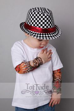 Hey, I found this really awesome Etsy listing at http://www.etsy.com/listing/126700461/tattoo-sleeve-white-t-shirt-for-babies