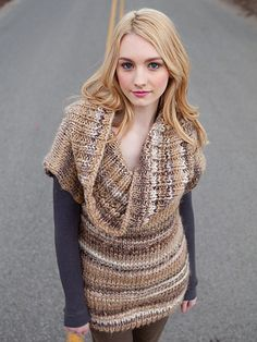 Caley Tunic Pullover Knitting Pattern