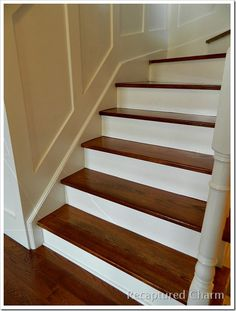 Recaptured Charm provides a handy walk through for DIY stair refinishing!