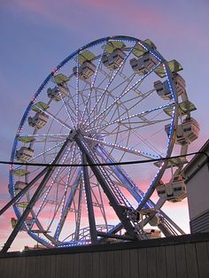 Twilight wheel from the beach. Old Orchard Beach, Work Site, Ocean Park, July 24, Taking Pictures, Twilight, Coastal, Wildlife, Fair Grounds