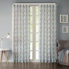 Ink + Ivy Hawthorne Rod Pocket Window Curtain Panel - BedBathandBeyond.com
