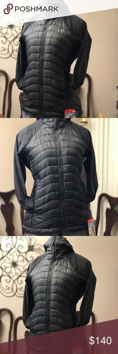The North Face Women's  Jacket Authentic- Black NWT not used The North Face Women's Progressor Insulated Hybrid Hooded Jacket Size Medium Retail: $199.00 Details: A brilliant mid-layer for cold days on the slab, this technical, hybrid climbing jacket features a PrimaLoft®-insulated core merged with a durable, stretch-woven hood and sleeves to keep you warm while allowing unparalleled freedom of movement. Laser-perforated underarm venting adds breathability to keep you dry and comfortable on…