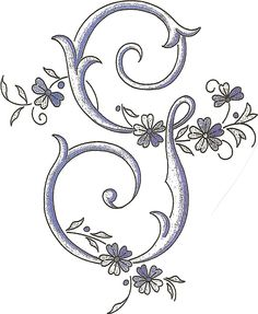 . Cute Letters, Monogram Letters, Letter G, Word Pictures, Art Pages, Tatoos, Needlework, Victorian, Calligraphy