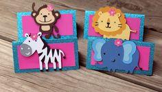12 Glittery Girl Jungle/safari Treat Bag Toppers, zoo birthday, favor bags, goody bags, safari party, zoo birthday. $18.00, via Etsy.