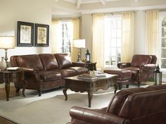 Bentley Sofa Set In Brown Dining Room Table Sets Bedroom Furniture Curio Cabinets And Solid Wood