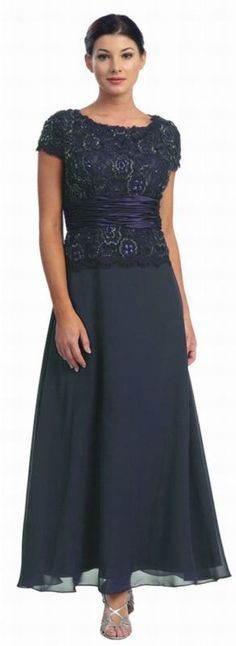Formal Occasion Wedding Mother of Bride/Groom Long Evening  M ~5XL Chiffon/Lace