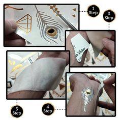 Instruction of applying Chic Flash Tattoo.