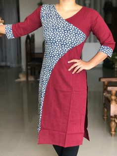 We all love Kurti, but (honestly) The TRUTH is, not all kurti designs going to fit you, everyone has difference preferences for their kurti fashion, that's why kurti comes with diverse designs and styles so that you always find your best kurti match. Churidar Designs, Kurti Neck Designs, Dress Neck Designs, Blouse Designs, Salwar Pattern, Kurti Patterns, Dress Patterns, Kurtha Designs, Latest Kurti