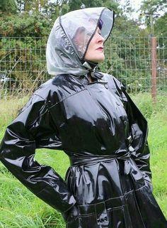 Vinyl Raincoat, Pvc Raincoat, Plastic Raincoat, Rain Bonnet, Bonnet Hat, Rain Fashion, Women's Fashion, Rubber Raincoats, Rain Hat