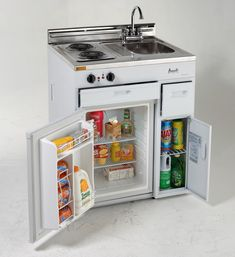 Avanti 30 Inch Compact Kitchen with cu. All-Refrigerator, Electric Cooktop, Stainless Steel Countertop, Stainless Steel Sink, Chrome Faucet and Integrated Backsplash Basic Kitchen, Compact Kitchen, Mini Kitchen, Summer Kitchen, Open Kitchen, Stainless Steel Countertops, Stainless Steel Sinks, Outdoor Kitchen Design, Kitchen Decor