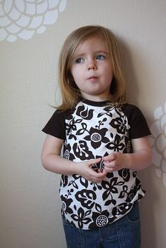 raglan tee tutorial - make a tee shirt pattern from a shirt that already fits well Sewing Patterns For Kids, Sewing For Kids, Pattern Sewing, Pattern Drafting, Free Sewing, Free Pattern, Diy Clothing, Clothing Patterns, Shirt Patterns