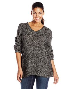 "cool Calvin Klein Women's Plus-Size Marled Vneck Sweater, Black/Birch, 2X -[gallery] Marled neck sweater  [amz_corss_sell asin=""B00MCL8OEY""]... -http://weddingdressesusa.com/product/calvin-klein-womens-plus-size-marled-vneck-sweater-blackbirch-2x/"