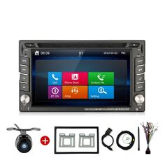 Autoradio 2DIN Car Video Player detector DVD Stereo GPS bluetooth dash camera charger tracker sub steering wheel parking For vw