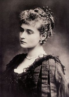 EMPRESS ALEXANDRA OF RUSSIA (1872-1918). Born in Germany as Alex of Hesse. Granddaughter of Queen Victoria, wife of Nicholas II, sister of Grand Duchess Elizabeth.  Alexandra, along with her husband and five children, was executed by the Bolsheviks.