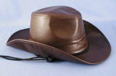 Cowboy Brown Faux Leather Hat by HMS. $11.99