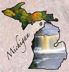 """Michigan Entered the Union: January 1837 Capital: Lansing Origin of Name: Based on Chippewa Indian word """"meicigama"""" meaning """"great water"""" (the Great Lakes) State Nicknames: Wolverine State Michigan Travel, State Of Michigan, Detroit Michigan, Northern Michigan, Lake Michigan, Term Life Insurance Quotes, The Mitten State, State Birds, Upper Peninsula"""