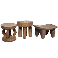 Selection of Small African Stools