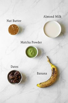 This Matcha Banana Smoothie Bowl recipe is loaded with antioxidants, vitamins, calcium, protein, and potassium! It only takes about 5 minutes to make, and it tastes like ice cream for breakfast. There's no better way to start the day than with this healthy vegan and easy-to-make matcha smoothie bowl! Best Vegetarian Recipes, Whole Food Recipes, Healthy Recipes, Matcha Smoothie, Smoothie Bowl, Ice Cream For Breakfast, Lemon Recipes, Best Appetizers, Vegan Foods