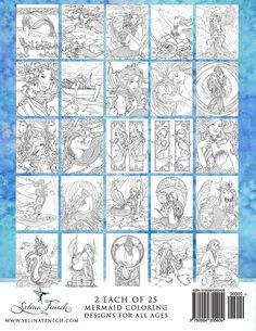 mermaids calm ocean adult coloring book