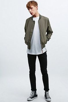 Shore Leave by Urban Outfitters Dobby Bomber Jacket in Khaki - Urban Outfitters