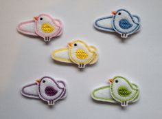 Sweet Birdie Felt Snap Hair Clip Barrettes Yellow by PJSEMBROIDERY, $3.00