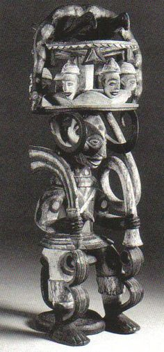 """Ikenga (""""place of strength"""") is a horned Alusi (deity) found among the Igbo peoplein southeastern Nigeria. It is one of the most popular symbols of the Igbo people. Ikenga is mostly maintained, kept or owned by men & occasionally by women of high reputation & integrity in the society. It comprises someone's Chi (personal god), his Ndichie (ancestors), aka Ikenga (right hand), ike (power) as well as spiritual activation through prayer & sacrifice."""