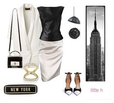 """""""New York"""" by catalina86 ❤ liked on Polyvore featuring Spicher and Company, Alexandre Vauthier, Lanvin, Gareth Pugh, Givenchy, Marc Jacobs, Home Decorators Collection, Pearl & Black, pearljewelry and littlehjewelry"""