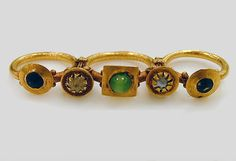 Gold triple-finger ring Period:Late Imperial or Late Antique Date:3rd–4th…