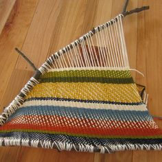 Pattern for this branch weaving is as follows: x = over o = under Use kitchen fork to carefully close up gaps in rows each row