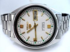 ORIGINAL GENUINE 100% RARE VINTAGE GENT'S SEIKO 5 AUTOMATIC 21 JEWEL WRIST WATCH #Seiko5 #Dress