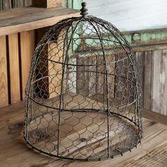 Wire Cloche | Chicken Wire Cloches | Farmhouse Cloche