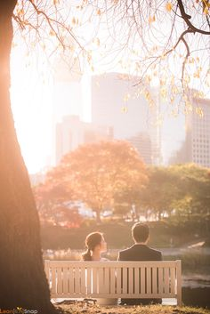 Fall wedding photo shoot // couple date by the park