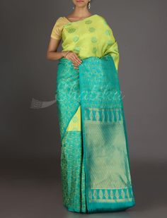 Devyani Horizontal Half And Half #Designer Arni Silk Saree