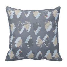 Merry trees! sq. throw pillow
