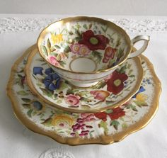 Hammersly Queen Anne Trio Tea Cup, Saucer & Plate