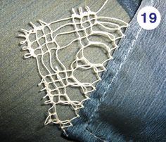 Simple Tutorial for simple lace made with needle
